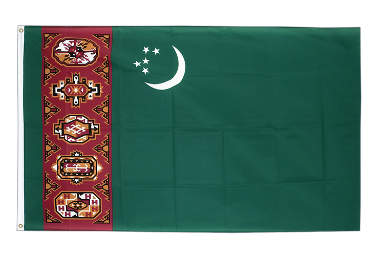 Turkmenistan - 3x5 ft Flag