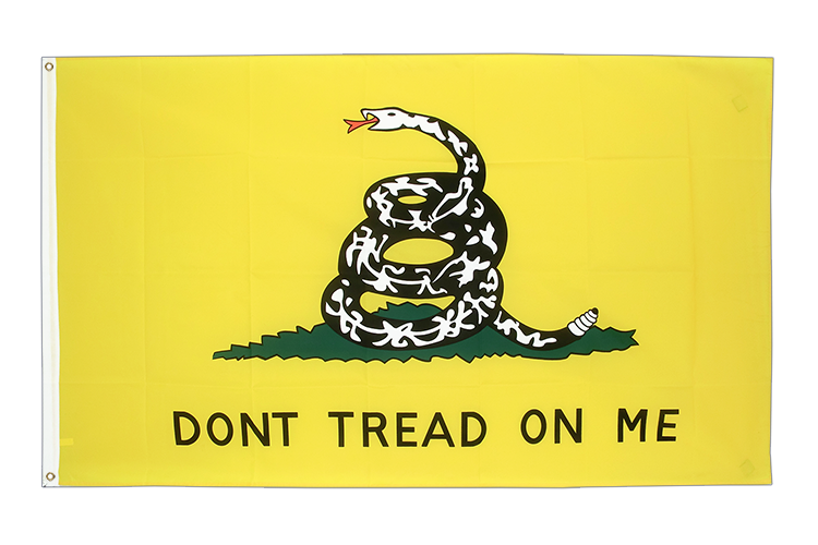 Gadsden Don't tread on me Flagge - 90 x 150 cm