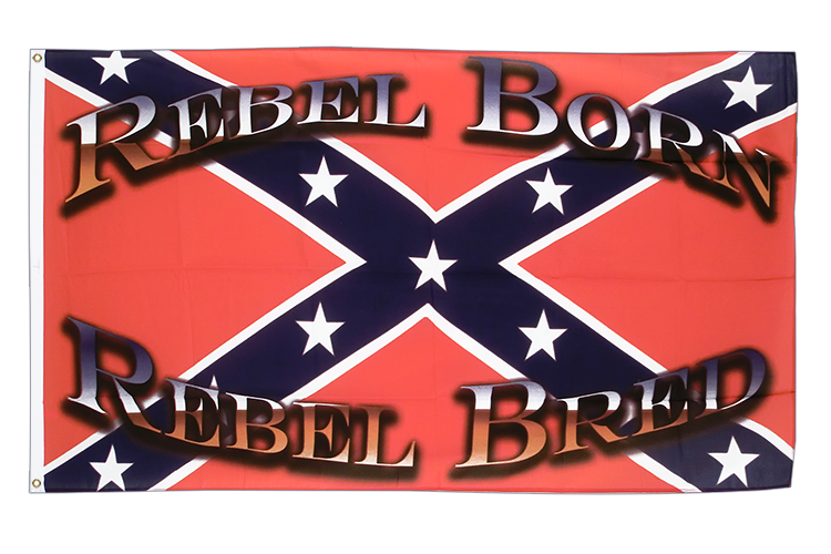 Drapeau confédéré USA Sudiste Rebel Born Rebel Bred 90 x 150 cm