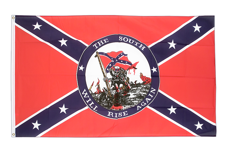 USA Südstaaten South will rise again - Flagge 90 x 150 cm kaufen