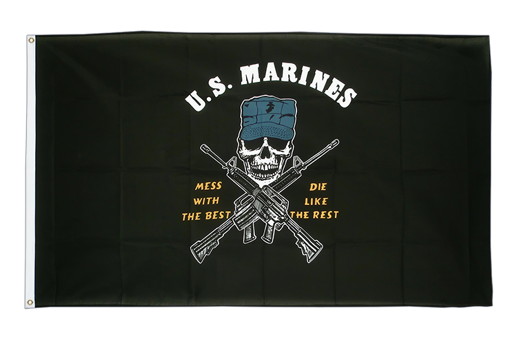 Vente drapeau USA Etats-Unis US Marine Corps Mess with the best