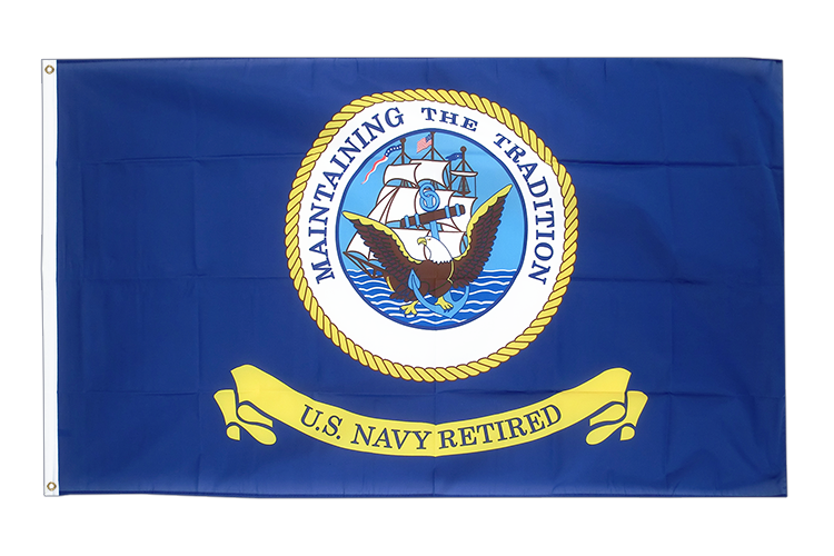 Vente drapeau USA Etats-Unis US Navy retired