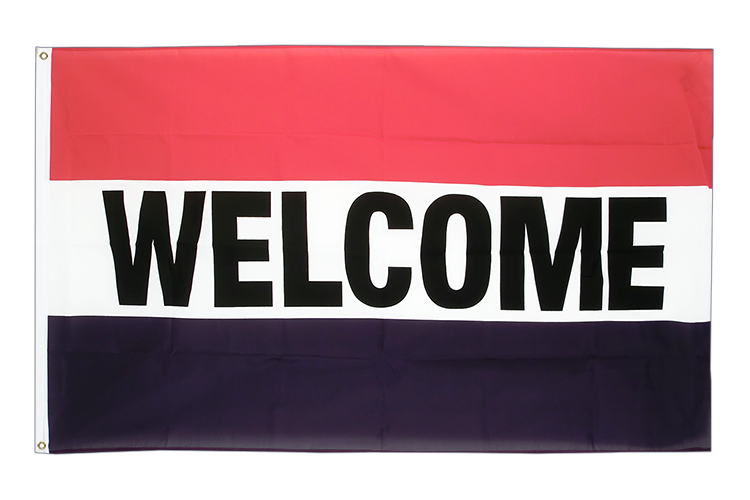 Vente drapeau Welcome