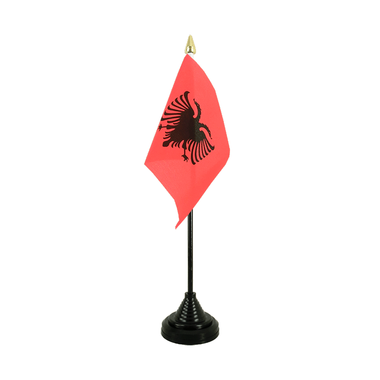 "Table Flag Albania - 4x6"" (10 x 15 cm)"