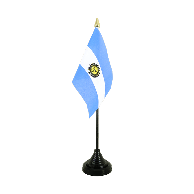 Mini drapeau de table Argentine 10x15 cm