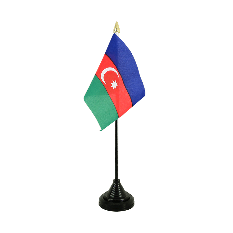 "Table Flag Azerbaijan - 4x6"" (10 x 15 cm)"