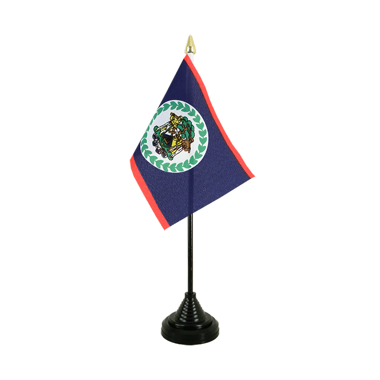"Desk and Table Flag Belize - 4x6"" (10 x 15 cm)"