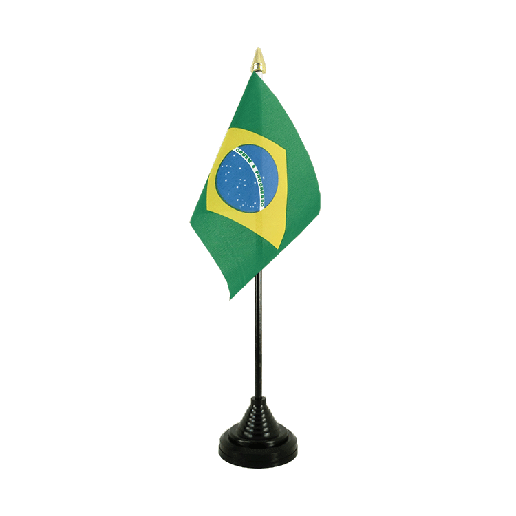 "Table Flag Brazil - 4x6"" (10 x 15 cm)"