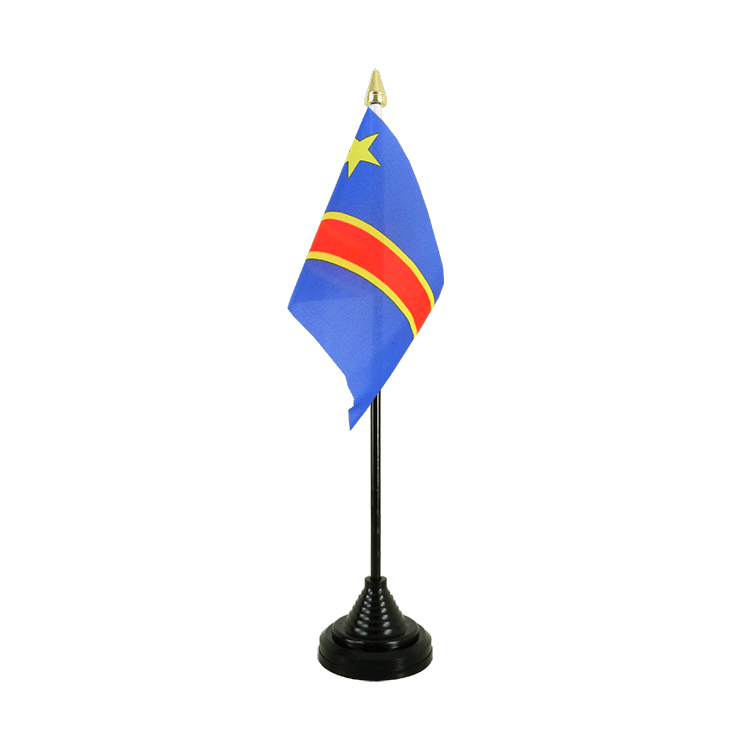 "Desk and Table Flag Democratic Republic of the Congo - 4x6"" (10 x 15 cm)"