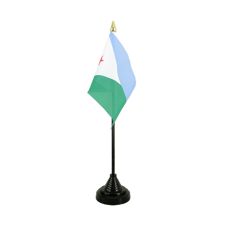 Mini drapeau de table Djibouti 10x15 cm