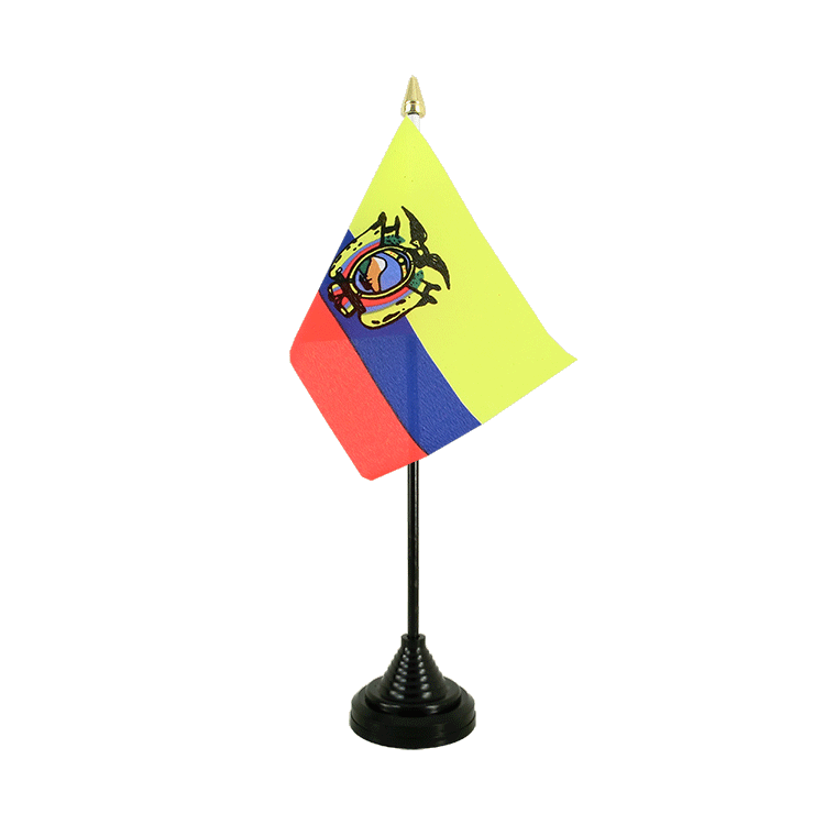 "Table Flag Ecuador - 4x6"" (10 x 15 cm)"