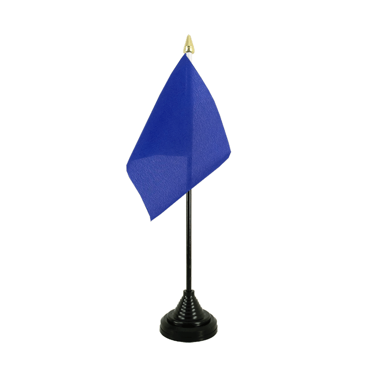 Mini drapeau de table Bleu 10x15 cm