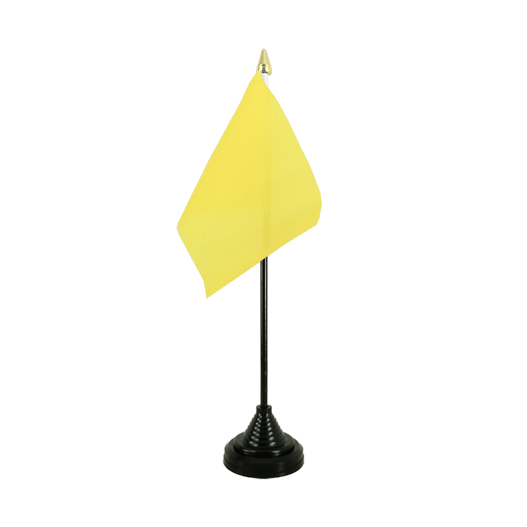 Mini drapeau de table Jaune 10x15 cm