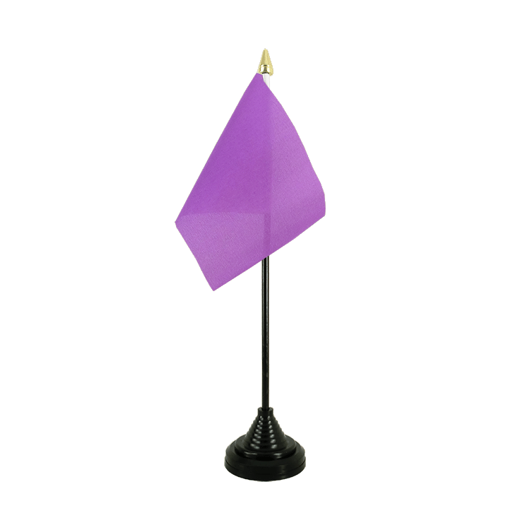 Mini drapeau de table Lilas 10x15 cm