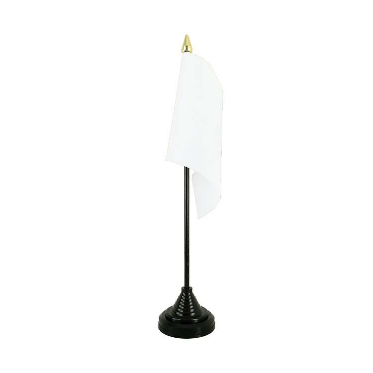 Mini drapeau de table Blanc 10x15 cm