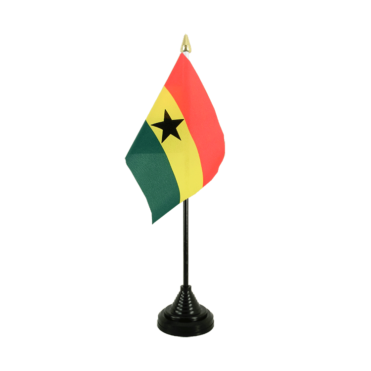 "Ghana Table Flag - 4x6"" (10 x 15 cm)"