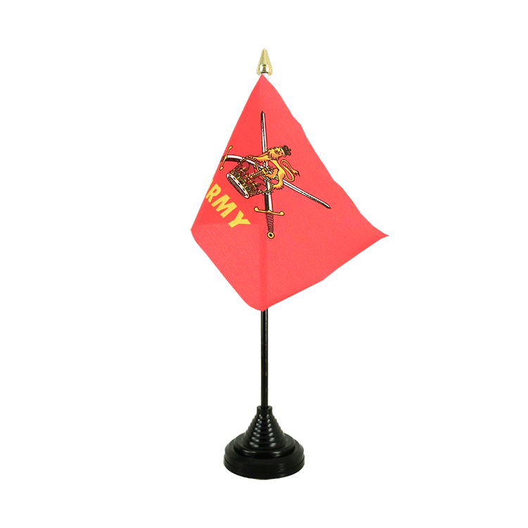 "Table Flag British Army - 4x6"" (10 x 15 cm)"