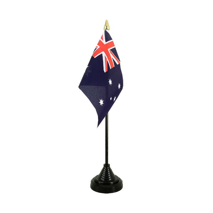 Mini drapeau de table Australie 10x15 cm