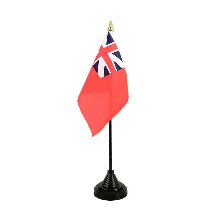 "Desk and Table Flag United Kingdom Red Ensign 1707-1801 - 4x6"" (10 x 15 cm)"