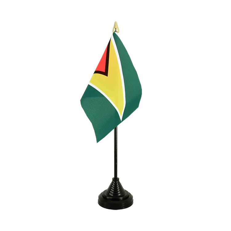 Mini drapeau de table Guyana 10x15 cm