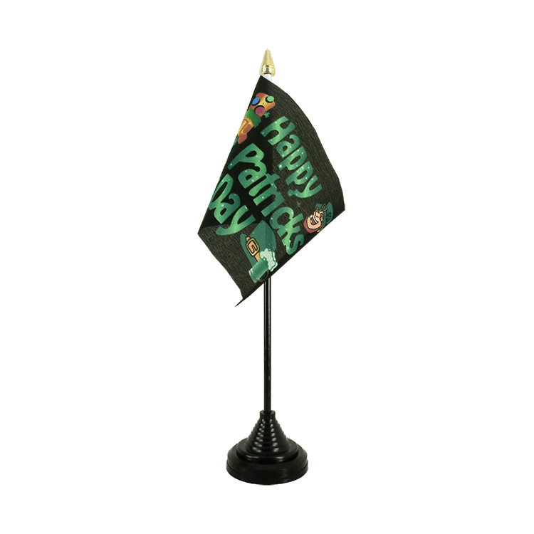 "Desk and Table Flag Happy Saint Patrick's Day St Patrick's Black - 4x6"" (10 x 15 cm)"