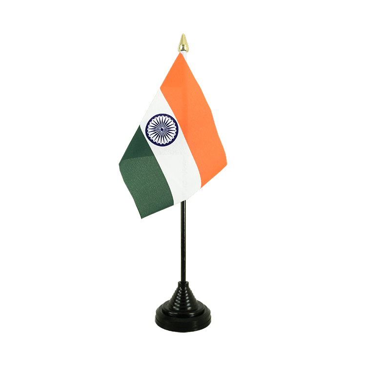 "Desk and Table Flag India - 4x6"" (10 x 15 cm)"