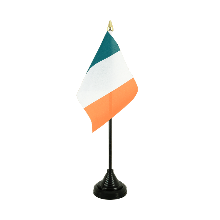 Mini drapeau de table Irlande 10x15 cm