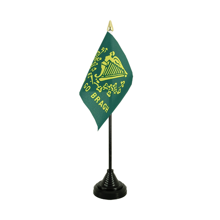 Mini drapeau de table Erin Go Bragh 10x15 cm