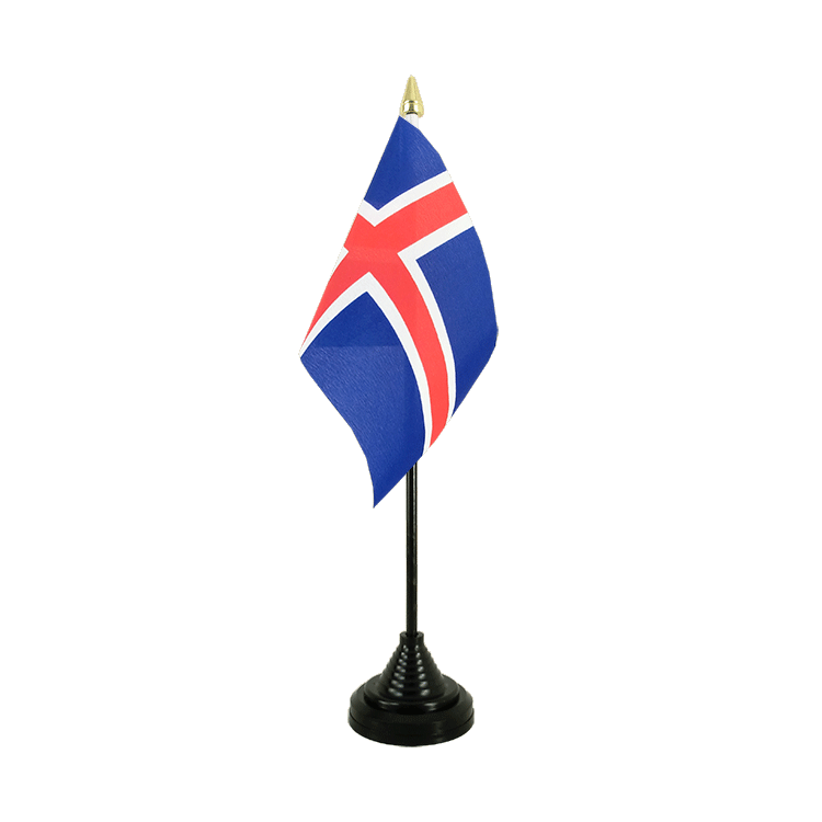 Mini drapeau de table Islande 10x15 cm