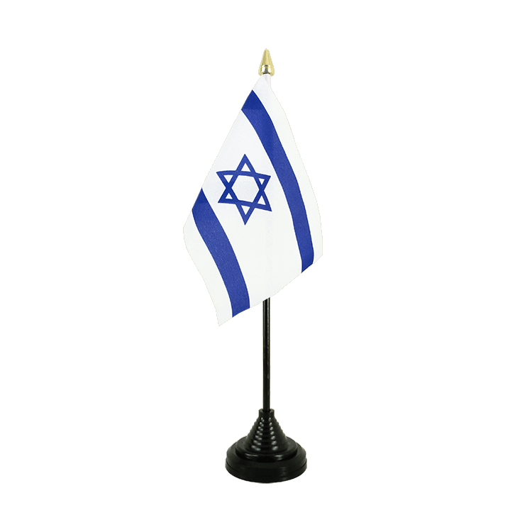 "Desk and Table Flag Israel - 4x6"" (10 x 15 cm)"