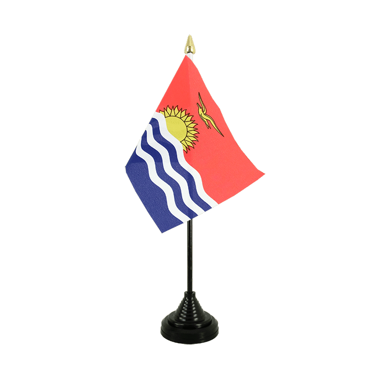"Kiribati Table Flag - 4x6"" (10 x 15 cm)"