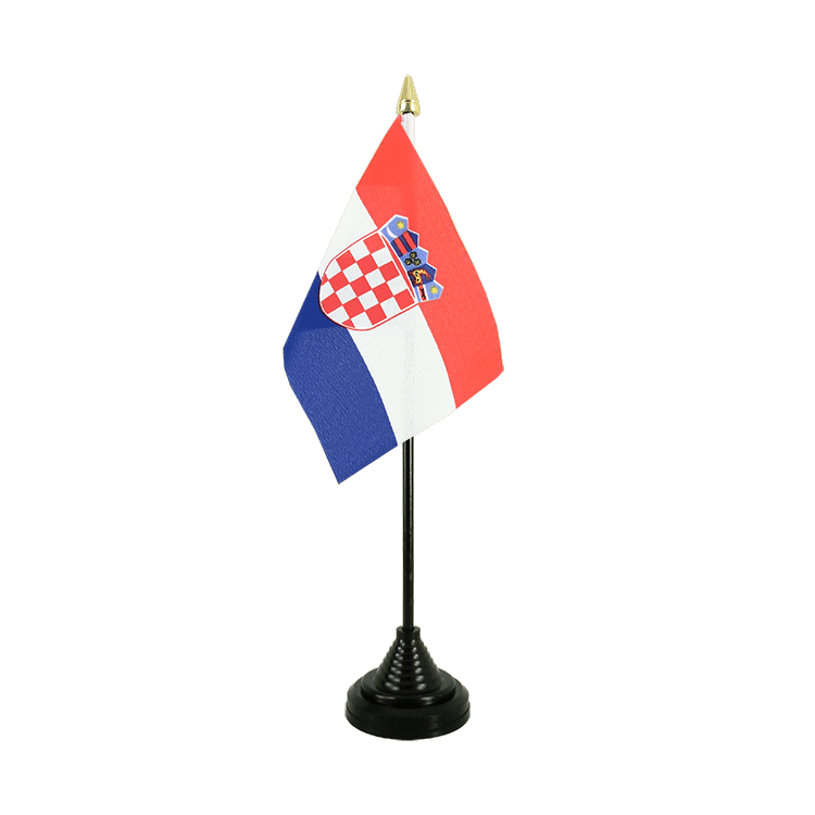 "Croatia Table Flag - 4x6"" (10 x 15 cm)"
