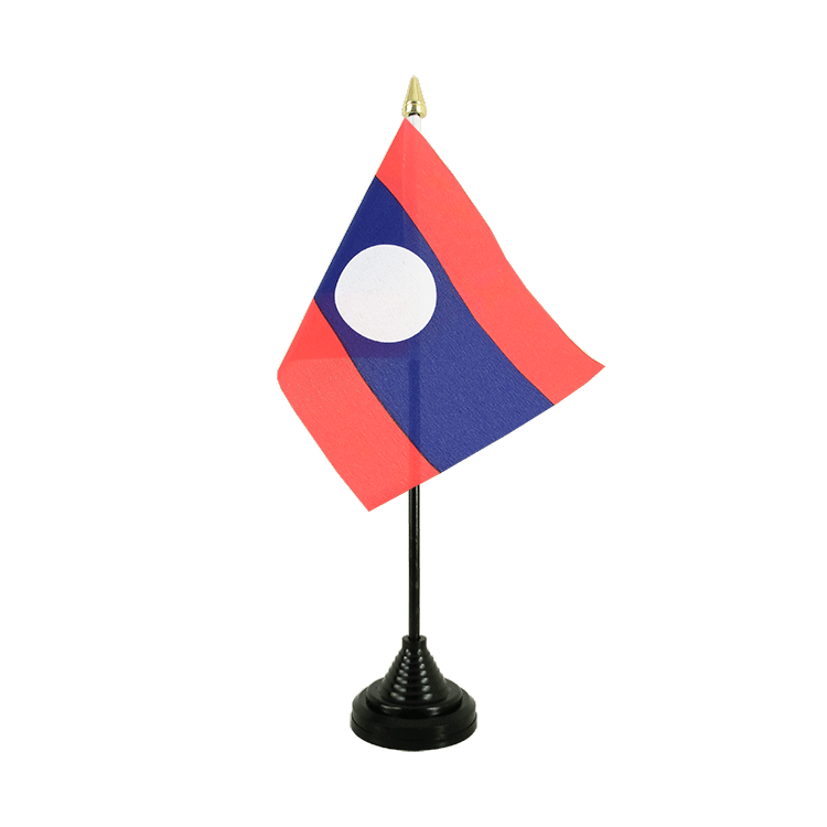 "Desk and Table Flag Laos - 4x6"" (10 x 15 cm)"