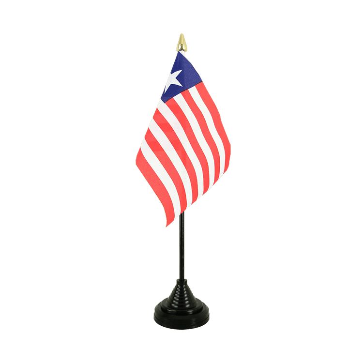 "Desk and Table Flag Liberia - 4x6"" (10 x 15 cm)"