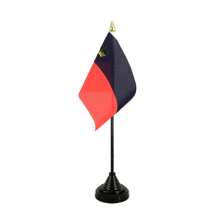 Mini drapeau de table Liechtenstein 10x15 cm