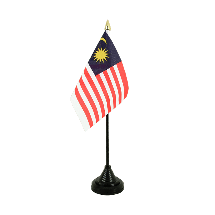 "Desk and Table Flag Malaysia - 4x6"" (10 x 15 cm)"