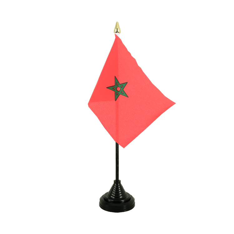 "Table Flag Morocco - 4x6"" (10 x 15 cm)"