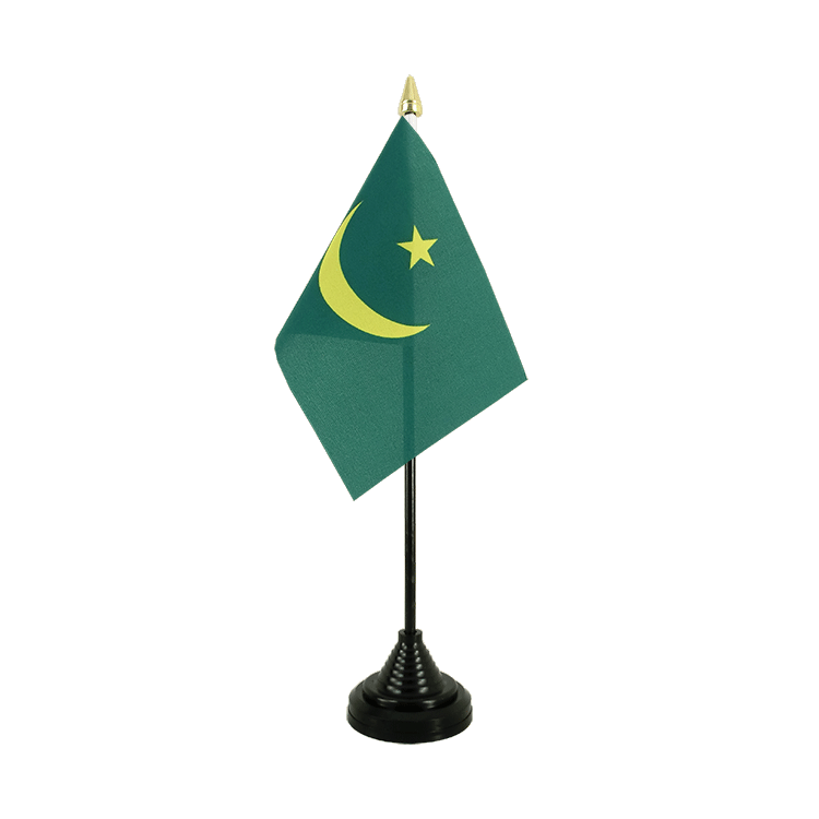 Mauritania Table Flag 4x6""