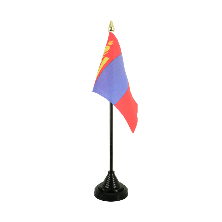 "Desk and Table Flag Mongolia - 4x6"" (10 x 15 cm)"