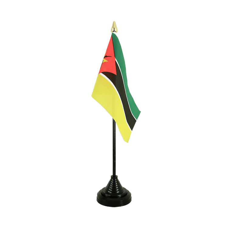 "Table Flag Mozambique - 4x6"" (10 x 15 cm)"