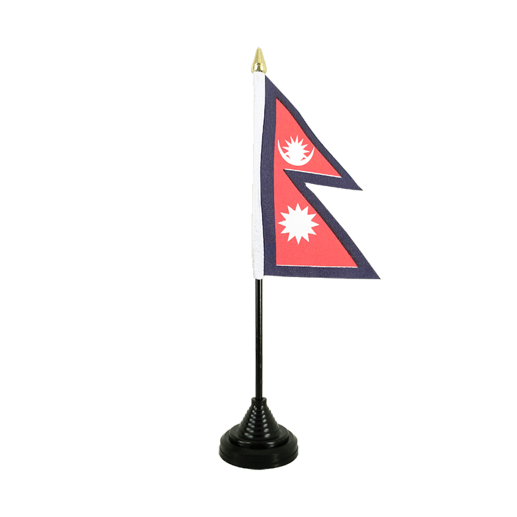 "Table Flag Nepal - 4x6"" (10 x 15 cm)"