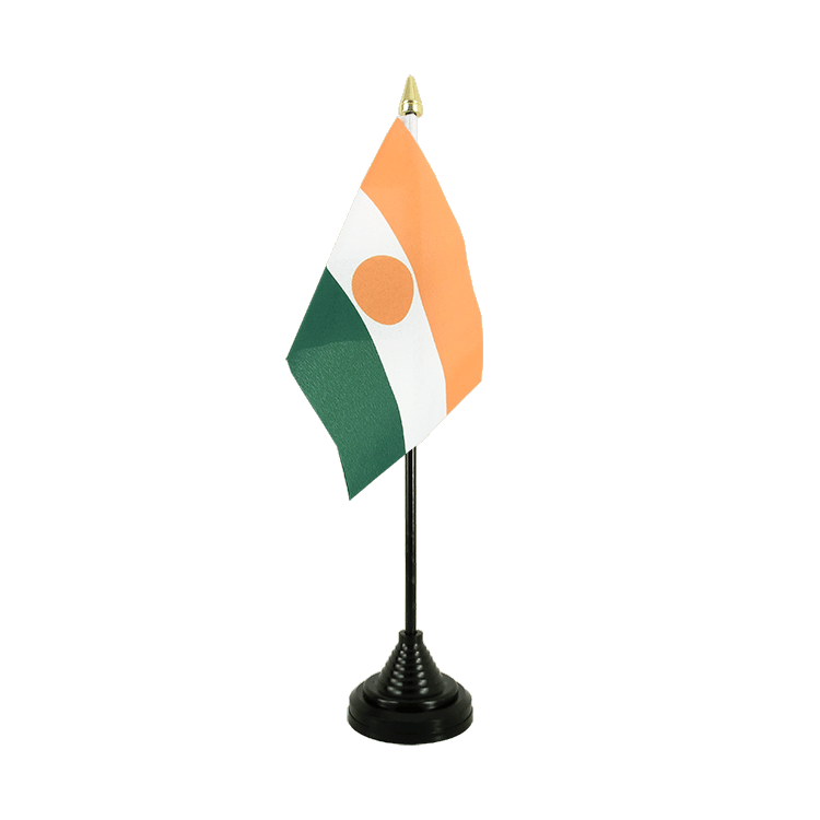 "Table Flag Niger - 4x6"" (10 x 15 cm)"