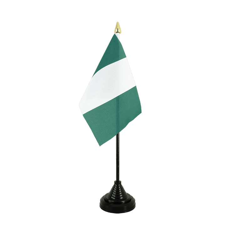 Mini drapeau de table Nigeria 10x15 cm