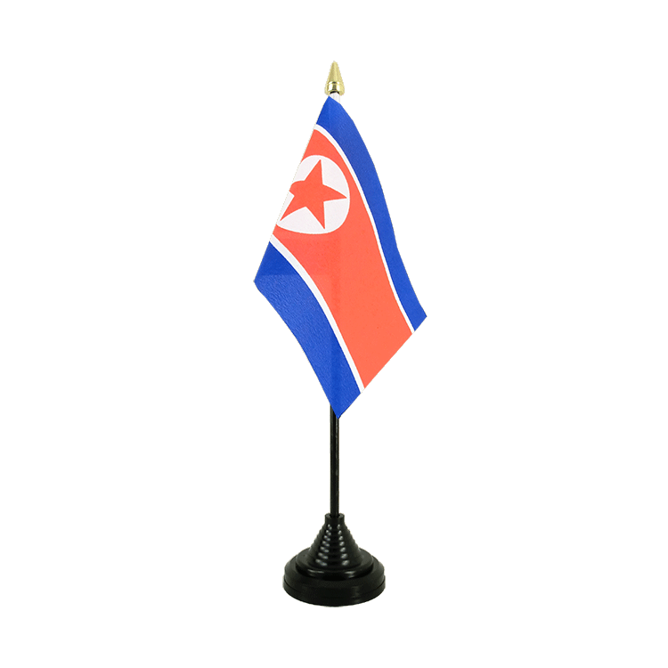 "Desk and Table Flag North corea - 4x6"" (10 x 15 cm)"
