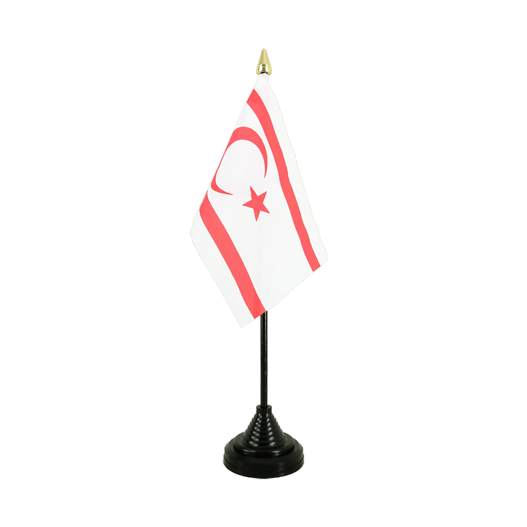 "Table Flag North Cyprus - 4x6"" (10 x 15 cm)"
