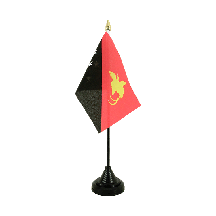 "Table Flag Papua New Guinea - 4x6"" (10 x 15 cm)"