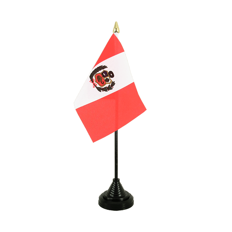 "Table Flag Peru - 4x6"" (10 x 15 cm)"