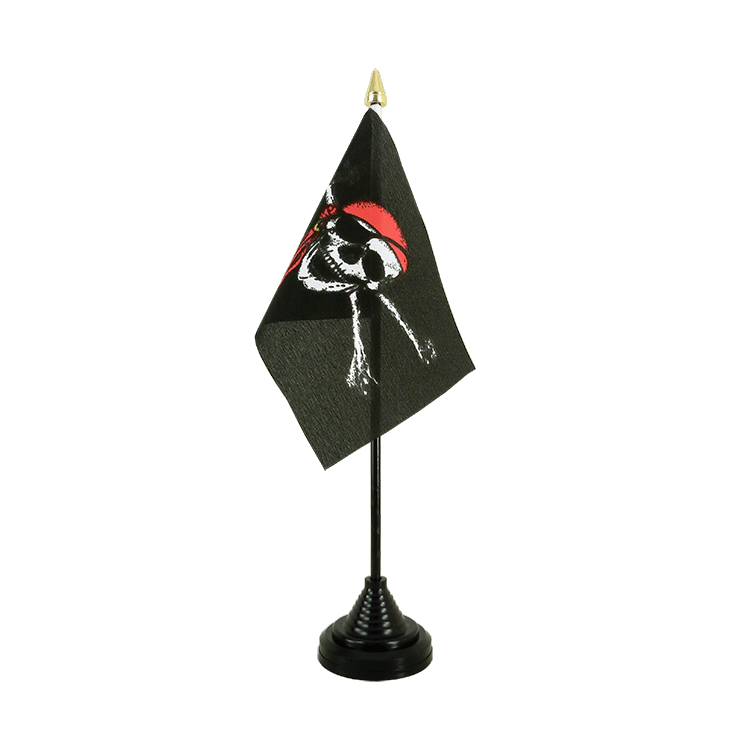 "Desk and Table Flag Pirate with bandana - 4x6"" (10 x 15 cm)"