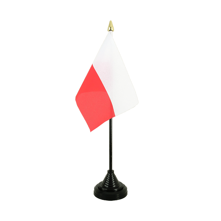 Poland Table Flag 4x6""