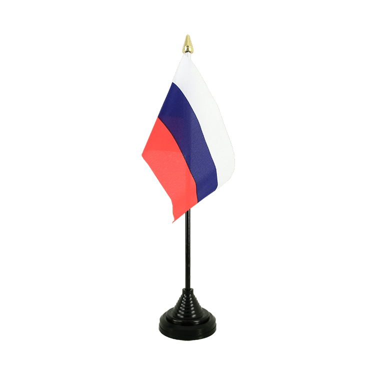 "Table Flag Russia - 4x6"" (10 x 15 cm)"
